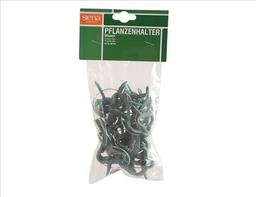 SIENA GARDEN Pflanzenclips MixPack im Netz, 10xgroß,10xklein