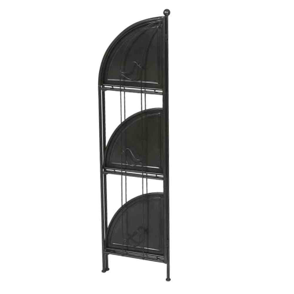 siena garden eckregal birdy metall pulverschichtet granit grau 3 ebenen 33x33x118 5cm. Black Bedroom Furniture Sets. Home Design Ideas